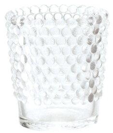 キャンドルホルダー ホビネルグラス クリスタル アロマキャンドル用キャンドルグラス カメヤマ