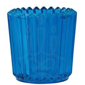 キャンドルホルダー ソレイユ ブルー アロマキャンドル用キャンドルグラス カメヤマ