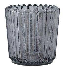 キャンドルホルダー ソレイユ グレー アロマキャンドル用キャンドルグラス カメヤマ