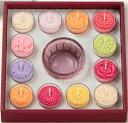 キャンドルギフト 花ローソク 花暦(はなごよみ) 12か月のカップ付きローソク 無香 ペガサスキャンドル