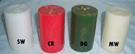 選べる4色 ピラーキャンドル ラウンド 2X3インチ 燃焼時間約16時間 (赤いろうそく/ロウソク) パーティ・キャンドルマジック用