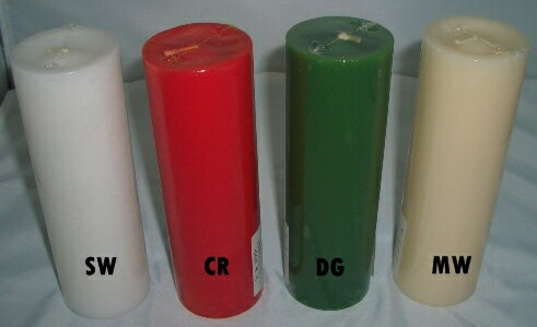 選べる4色 ピラーキャンドル ラウンド 2X6インチ 燃焼時間約24時間 (赤いろうそく/ロウソク) パーティ・キャンドルマジック用 円柱型ロウソク
