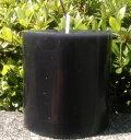 黒いロウソク 3インチラウンド ピラーキャンドル ブラック 燃焼時間約30時間 (ろうそく/ロウソク) パーティ・…