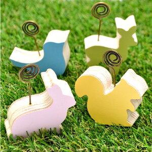 アニマルカードスタンド4個セット ウサギ トリ リス シカ カードスタンド スタンド アニマル 動物 うさぎ 兎 とり 鳥 りす 鹿 カワイイ かわいい グッズ 雑貨 インテリア 文具 おしゃれ おも