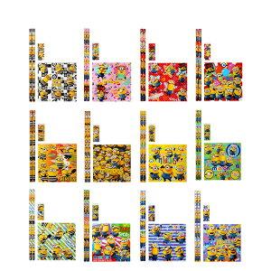 【25個セット】ミニオンズ おりがみメモ付4点文具セット 雑貨 文房具 ミニオン グッズ 鉛筆 消しゴム おりがみ メモ キャラクター アニメ 映画 景品 イベント パーティー