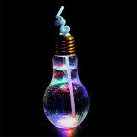 【ポイント10倍】LED電球ボトル500ml(ストロー付)140入縁日屋台イベント街歩きインスタ映えかわいいキュート流行ピカピカ光るストロー付き目立つ写真映えSNS