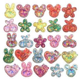 【50個セット】キラキラデコ光る指輪2 光る 光るおもちゃ 女の子 かわいい おもしろ雑貨 ザッカ ビンゴ景品 バザー