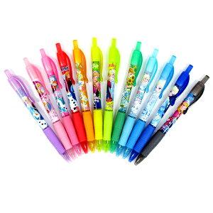 【12個セット】【かわいい ペン】アナと雪の女王ノック式グリッターペン カラーペン カラフル アナ雪 キャラグッズ ディズニー おしゃれ デザイン 可愛い