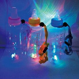 【光るおもちゃ】光る哺乳瓶ボトルストラップ付400ML 12個セット ピカピカ 夏祭り 景品 光る ボトル 飲む ユニーク 雑貨 デザイン 光る玩具 インスタ映え SNS