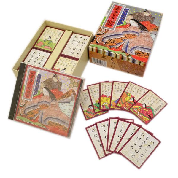 CD付き 百人一首 お正月 プレゼント 贈り物 お祝い カードゲーム カードゲーム 家族 友達 遊ぶ 縁日 お祭り イベント おもちゃ 景品 子ども会 子供会 景品 玩具 年末 年始 おもしろ雑貨 ザッカ ビンゴ景品 バザー