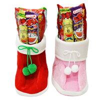 クリスマスブーツふわふわブーツ23cm2色とりまぜお菓子入り