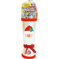 クリスマスブーツ銀51cmお菓子入り/サンタブーツ
