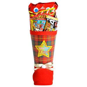 36cm お菓子 詰め合わせ サンタブーツ サンタクロース Christmas プレゼント 子ども会 子供会 クリスマスブーツ タータン