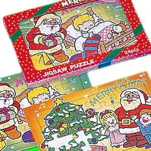【20個セット】2枚入クリスマスパズル クリスマス プレゼント 子ども会 子供会 景品 玩具 お祭り問屋 おもしろ雑貨 ザッカ ビンゴ景品 バザー