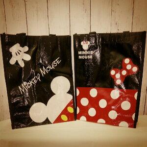 【12個セット】【ディズニー 袋】ミッキー&ミニーレッスンバッグ ミニトートバッグ ディズニー 景品 玩具 鞄 ディズニー かわいい 黒 赤 お祭り お出かけ 散歩 バッグ 便利 おもしろ雑貨 ザ
