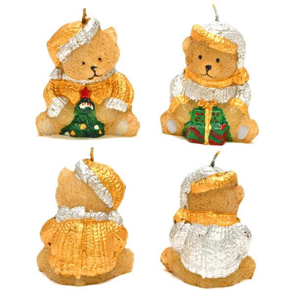 7.5cm ベアーキャンドル 12個入り ろうそく クリスマス X'mas お祝い ロウソク 子ども会 子供会 ローソク 送料無料 送料込み おもしろ雑貨 ザッカ ビンゴ景品 バザー