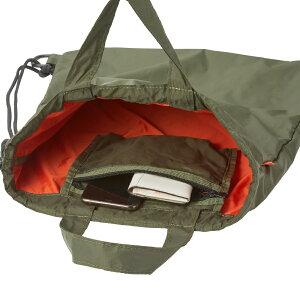 袋の中はビームスらしいデザインカラー。巾着の様に口を閉じることができます。