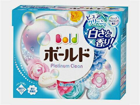 洗濯用洗剤 ボールド 粉末 プラチナクリーン ピュアクリーンサボンの香り 850g 9個入(ケース販売)