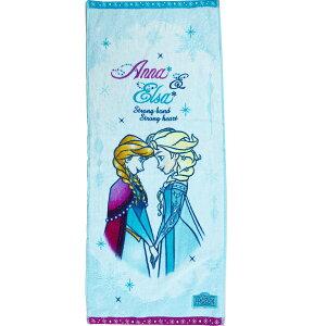 【送料無料】ディズニー フェイスタオル アナと雪の女王 「クリアスノー」 スポーツタオル 34×80cm ロングタオル 綿100% プリンセス アナ エルサ 女性 女子 女の子 高級 贈り物 お祝い かわい