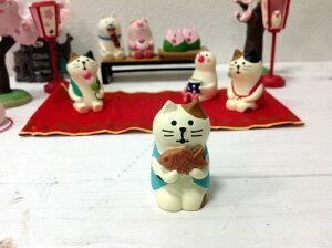 コンコンブル 三毛猫 たいやき 13324マスコット 飾り ミニチュア 置物 和菓子 桜 猫 ねこ ネコ 癒し お花見【RCP】