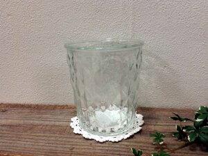【ガラスポット】フラワーベース チェッカー 22331ガラス瓶  花瓶  置物 飾り アメリカン レトロ グラス 一輪挿し 植木鉢 鉢 ナチュラル 観葉植物 ハイドロカルチャー