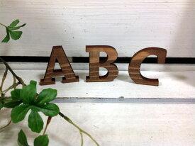 【メール便対応可】 ウッドアルファベット ブラウン A〜N 切り抜き文字木製アルファベット アルファベットオブジェ アルファベット置物 切り文字ナチュラル 茶色 焦げ茶WOOD 【A〜Nまで】レーザー加工