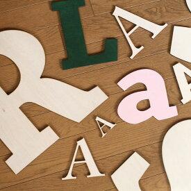 切り文字 木 アルファベット ウォールデコ(アルファベット・ナンバー・マーク)プレート Lサイズ / 看板 サインプレート【レーザー加工】
