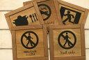 【メール便対応可】10種類 木製フレーム型プレート サインプレート ドアプレート 枠付き 二層 木目 ナチュラル…