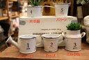 ブリキ缶 ブリキプランター 5種セット ナチュラルアンティーク ホワイト多肉植物 寄せ植え TIN Tin おしゃれ 植木鉢 鉢 【開店セール1212】【RCP】