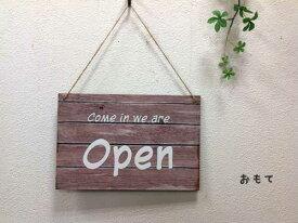 木製 OPEN/CLOSEプレートドアプレート サインプレートオープン/クローズ Woden Door Plate ドアプレート