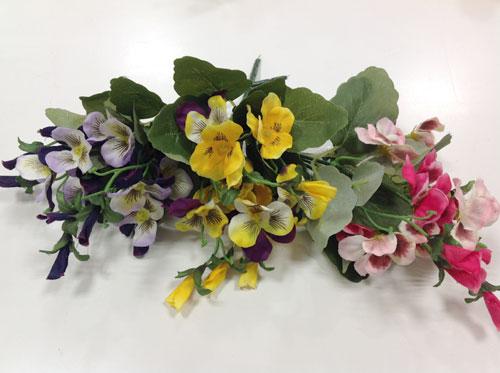パンジーブッシュアートフラワー・イミテーション・人工観葉植物 造花 飾り 【RCP】