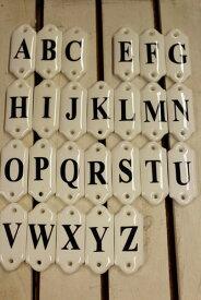 【倉敷意匠】磁器 アルファベットプレート A〜Lアルファベット置物 アルファベットオブジェ DIY/インテリア/陶器【RCP】