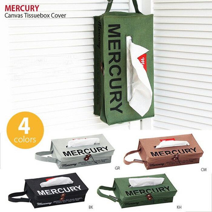 マーキュリー MERCURY キャンバス ティッシュボックスカバー ティッシュカバー 掛け ティッシュケース カバー かわいい 布 カフェ雑貨 アメリカン雑貨