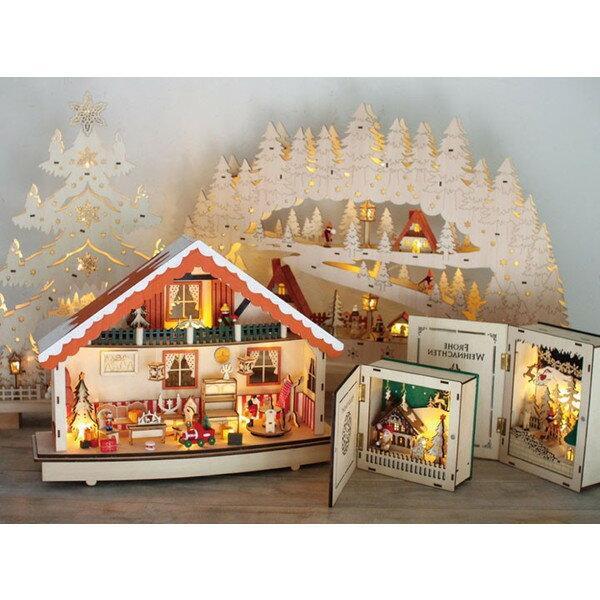 クリスマス ウッド LEDライトブックフレーム HOLLY NIGHT BLXY3530B SPICE プレゼント
