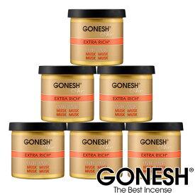 GONESH ガーネッシュ ゲル缶 エアフレッシュナー 芳香剤 車 ジェルMusk ムスク 6個セット【ガーネッシュ(GONESH)】