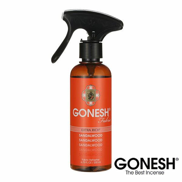 GONESH ガーネッシュ ファブリックリフレッシャー Sandalwood サンダルウッド 衣類用芳香スプレー布 消臭 除菌 スプレー 部屋干し
