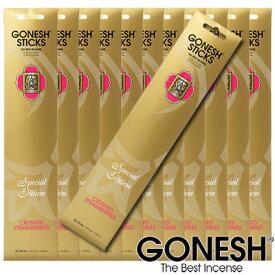 GONESH ガーネッシュ お香 スティック スペシャルエディションCrashed Strawberry クラッシュド ストロベリー 12パックセット【ガーネッシュ(GONESH)】