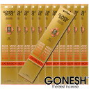 GONESH ガーネッシュ お香 スティック Musk ムスク 12パックセット(計240本)【ガーネッシュ(GONESH)】
