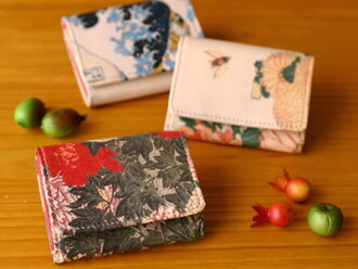 JAPAN ART LEATHER PTI wallet / purse / folding leather goods cloth leather /