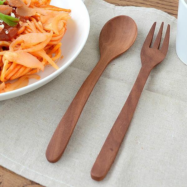 カトラリー WOOD'N カトラリーLサイズ Laluz ラルース フォーク スプーン 木製 キッチン 北欧