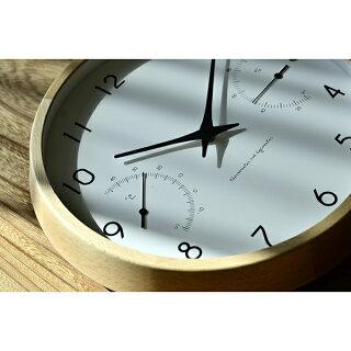 掛け時計【レビュー特典付】LemnosレムノスカンパーニュエールCampagneair壁掛け時計掛時計温湿度計PC17-05音がしない子供湿度計温度計アナログ時計北欧
