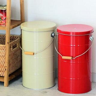OBAKETSUオバケツライスストッカー米びつ10kgおしゃれスリム米櫃缶全5色計量カップ付き日本製トタン製【レビュー特典付】