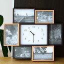ビット7 フォトフレーム 時計 壁掛け 置き型 写真立て おしゃれ 複数 木製 | 写真フレーム 写真フレーム プレゼント …