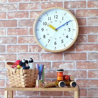 インターフォルムINTERFORM掛け時計ストゥールマンstoruman電波時計CL-2937イエローレッドブルー木製知育時計北欧電波おしゃれ子供キッズ入学祝い幼稚園保育園ナチュラルシンプル
