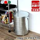 オバケツ ライスストッカー30kg キャスター付 米びつ 米櫃 計量カップ付き OBAKETSU おばけつ ペットフード ストッカ…