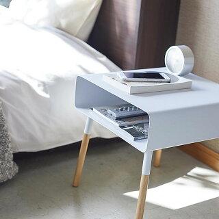 ローサイドテーブルプレーンサイドテーブルPLAIN角型木製ホワイトブラック42294230ベッドサイドソファーサイド収納北欧おしゃれシンプルモダンコーヒーテーブルコンパクト雑誌リビング寝室山崎実業yamazaki