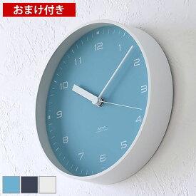 タカタレムノス lemnos 掛け時計 置き時計 エアラ AIRA LC18-03 時計 壁掛け 置時計 おしゃれ 大きい アナログ ホワイト ネイビー ブルー シンプル 北欧 レムノス 置き掛け兼用時計 連続秒針 静か 静音 スイープムーブメント プレゼント