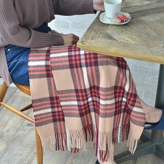 ストールマフラーestaaエスタレディースメンズチェック大判カシミヤ厚手大判ストール可愛いおしゃれ柔らかい冬洗濯タータンチェックひざ掛けプレゼント