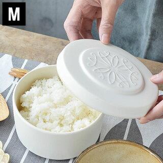 おひつまかない計画ごはんジャーM1合電子レンジ対応陶器お櫃電子レンジ冷凍冷蔵丸形白黒シンプルお祝い結婚祝い新築祝い誕生祝いギフトプレゼントラッピング