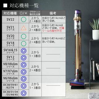 ダイソンコードレスクリーナースタンドRINリンdyson掃除機V11V10V8V7V6対応ダイソンコードレスクリーナー専用スタンドツールパーツ収納木目スチールモダンおしゃれ山崎実業yamazaki48984899充電ブラケット壁寄せ